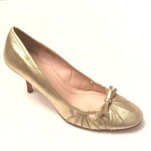 Coach Gold Tasha Dusted Suede pumps Size 10